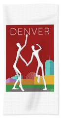 Denver Dancers/maroon Beach Sheet