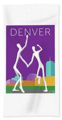 Denver Dancers/purple Beach Towel