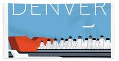 Denver Dia/blue Beach Towel