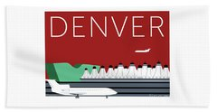 Denver Dia/maroon Beach Towel