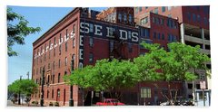 Beach Towel featuring the photograph Denver Downtown Warehouse by Frank Romeo