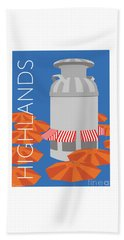 Denver Highlands/blue Beach Towel
