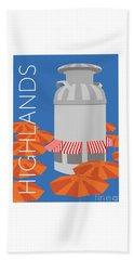 Denver Highlands/blue Beach Towel