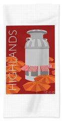 Denver Highlands/maroon Beach Towel