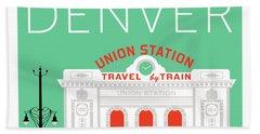 Denver Union Station/aqua Beach Towel