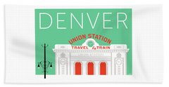 Denver Union Station/aqua Beach Towel