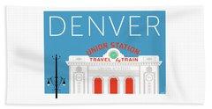 Denver Union Station/blue Beach Towel