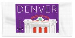 Denver Union Station/purple Beach Towel