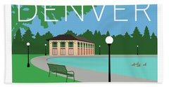 Denver Washington Park/blue Beach Towel