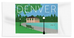 Denver Washington Park/blue Beach Towel