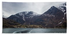 Beach Towel featuring the photograph Departing Flam by Suzanne Luft