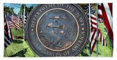 Department Of The Navy - United States Beach Towel