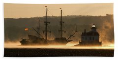 Departure Of El Galeon I Beach Towel