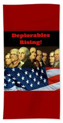 Deplorables Rising Beach Sheet by Rand Swift
