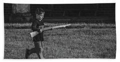 Deploy The Guard Bw Beach Towel by Jeff at JSJ Photography