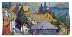 Depot By The River Beach Towel