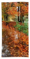 Derbyshire Leafy Lane Beach Towel