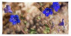 Desert Blue Bells At Joshua Tree National Park Beach Towel