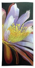 Desert Cactus Flower Beach Towel