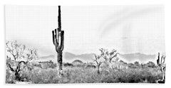 Desert Cactus Beach Towel
