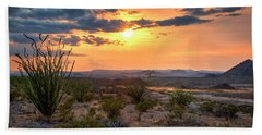 Big Bend Desert Glow II Beach Towel