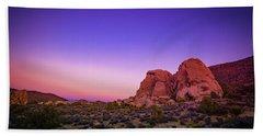 Desert Grape Rock Beach Towel