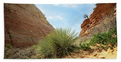 Desert Greenery Beach Towel