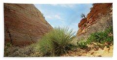 Desert Greenery Beach Sheet