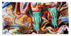 Desert Hallucination Beach Sheet by Ian Gledhill