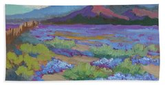 Beach Sheet featuring the painting Desert In Bloom by Diane McClary