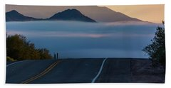 Desert Inversion Highway Beach Sheet