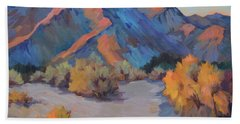 Beach Towel featuring the painting Desert Light by Diane McClary