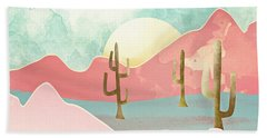 Desert Mountains Beach Towel by Spacefrog Designs