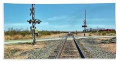 Desert Railway Crossing Beach Sheet