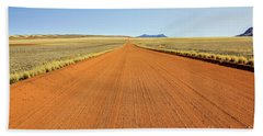 Desert Road Beach Towel