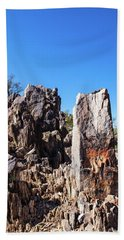 Beach Towel featuring the photograph Desert Rocks by Ed Cilley