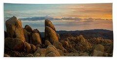 Desert Rocks Beach Sheet by Ed Clark