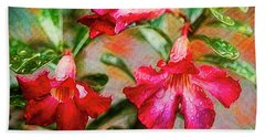 Desert Rose Art Beach Towel