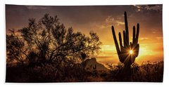 Beach Towel featuring the photograph Desert Skylight  by Saija Lehtonen