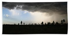 Beach Towel featuring the photograph Desert Storm Near Uluru In The Northern Territory by Keiran Lusk