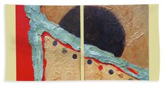 Beach Towel featuring the painting Desert Sun I by Phyllis Howard