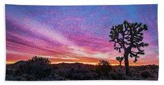 Desert Sunrise At Joshua Tree Beach Towel