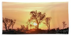Desert Sunset Beach Towel