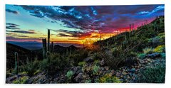 Desert Sunset Hdr 01 Beach Towel