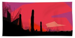 Desert Sunset In Tucson Beach Towel