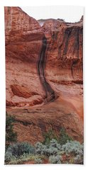 Desert Varnish Along Burr Trail Beach Towel