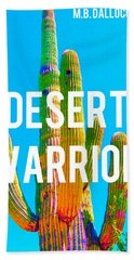Desert Warrior Poster II Beach Towel