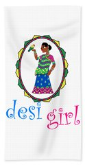 Desi Girl Beach Sheet
