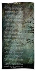Desiderata Of Happiness - Vintage Art By Jordan Blackstone Beach Towel