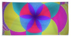 Beach Towel featuring the painting Design Number Three by Denise Fulmer